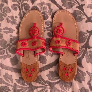 Jack Rogers neon pink sandals